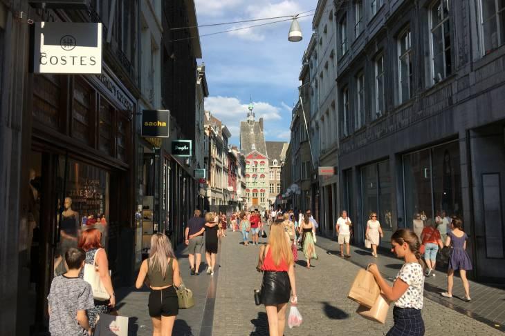 Winkelstraat Maastricht.