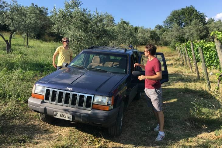 Enosafari in Montefalco, bezoeken en proeven van wijnen in Umbrië.