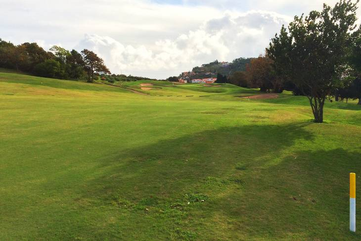 Fairways op Palheiro Golf leiden je altijd omhoog of omlaag.