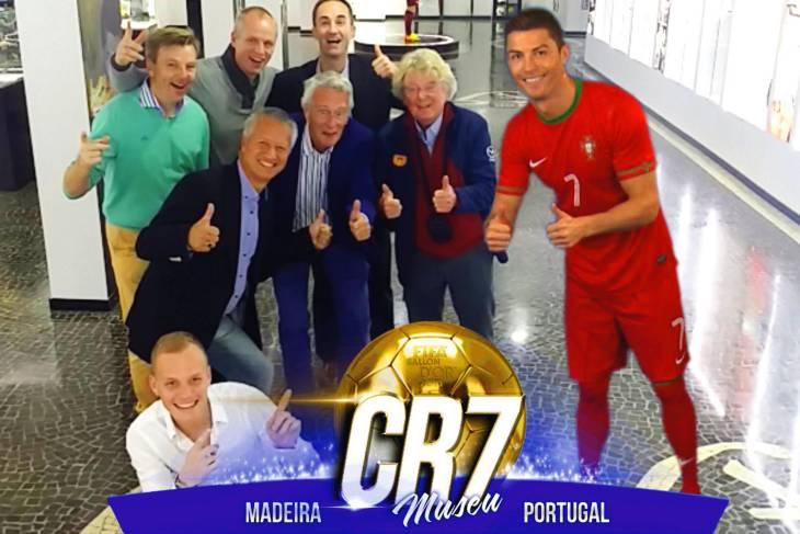 Via augmented reality kan elke bezoeker van het Cristiano Ronaldo-museum met de ster op de foto.