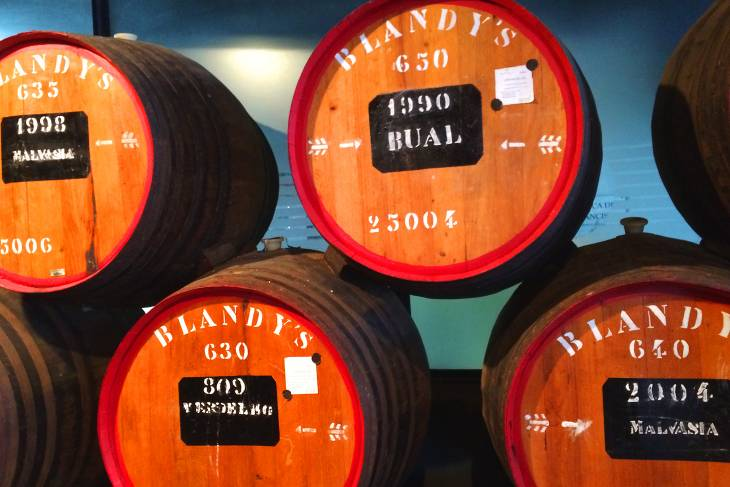 In de Blandy's Wine Lodge kun je de Madeira-wijn in alle soorten en maten proeven.