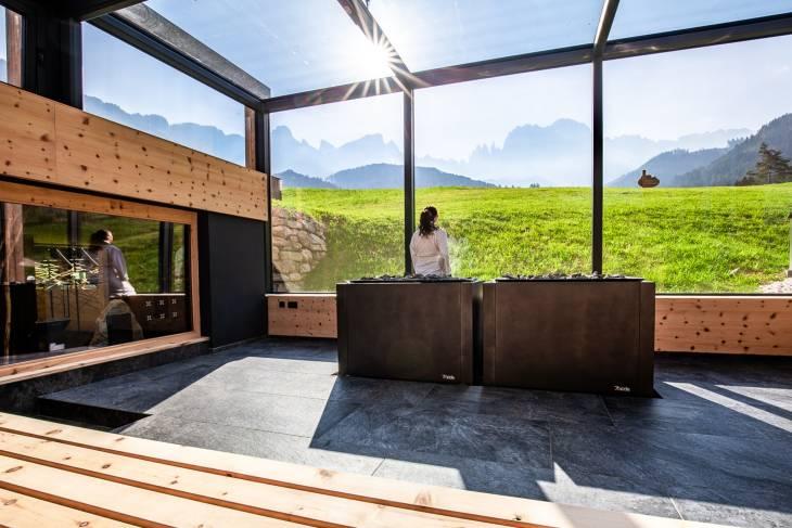 Italië Dolomieten zomervakantie RonReizen Hotel Cyprianerhof sauna