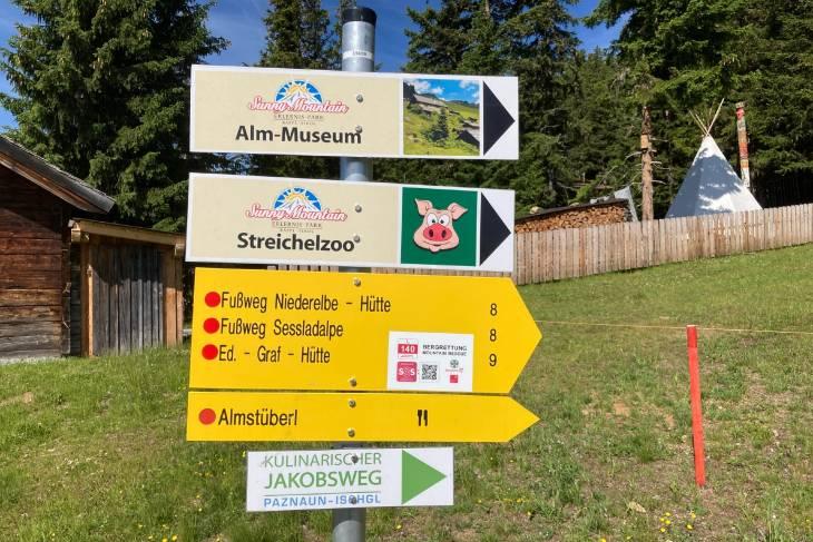 Oostenrijk Culinaire Jacobsweg Ischgl RonReizen bordje