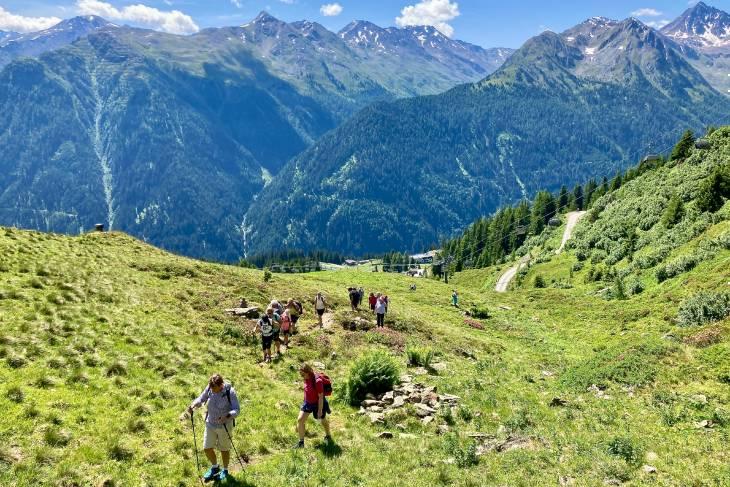 Oostenrijk Culinaire Jacobsweg Ischgl RonReizen steile Alpenweide