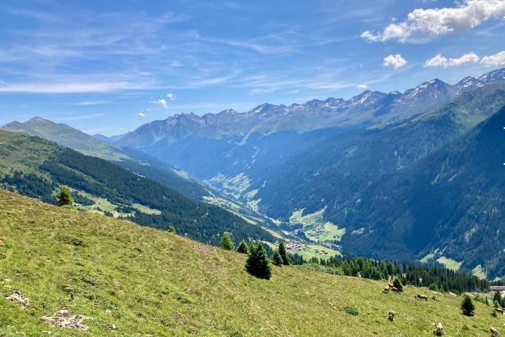 Oostenrijk Culinaire Jacobsweg Ischgl RonReizen uitzicht