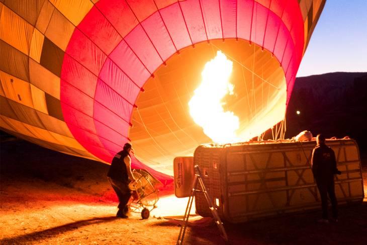 Ballonvaart: ready for take off.