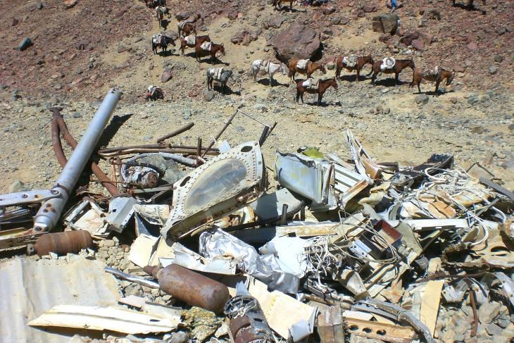 Vliegtuigresten