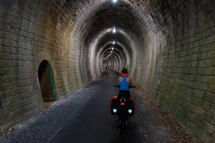 Licht tunnel.