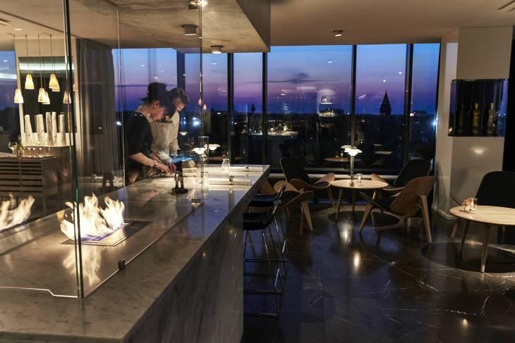 Restaurant Geranium by night