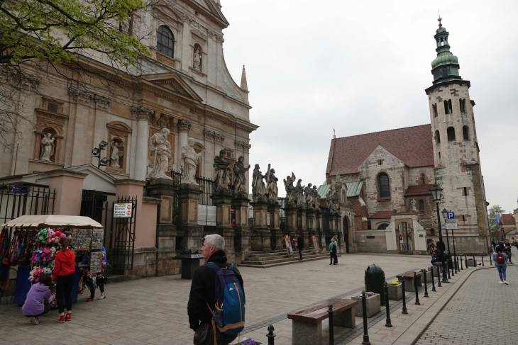 Krakau telt onnoemelijk veel kerken.
