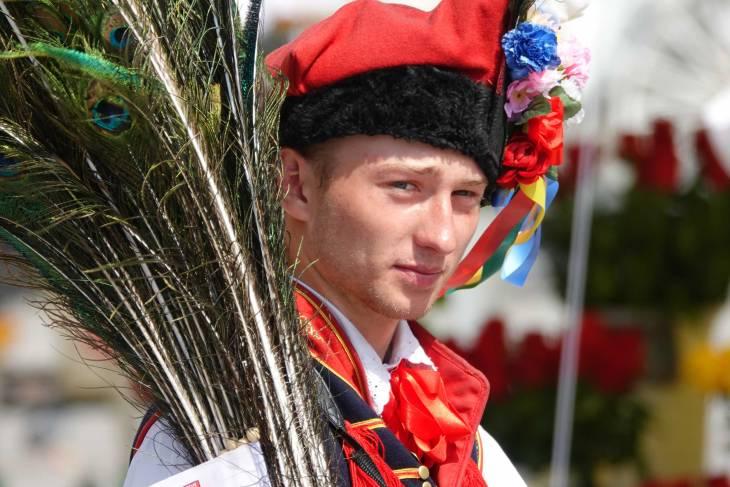 Voor een paar zloty mag je met hem op de foto...