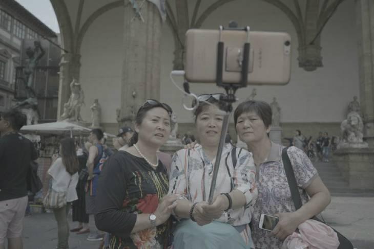 Toeristen selfie