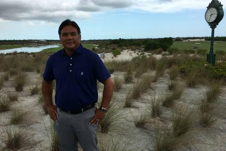 Golfmanager Lemon Gorospe speelde zelf op de tour.