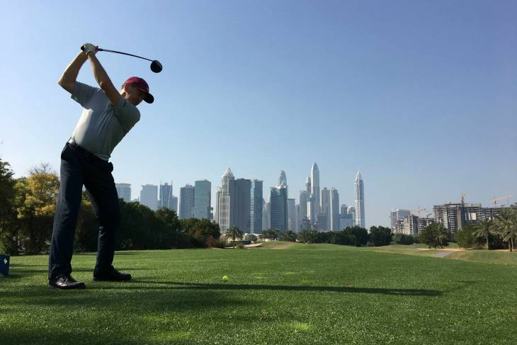 The Address: tee with a view!