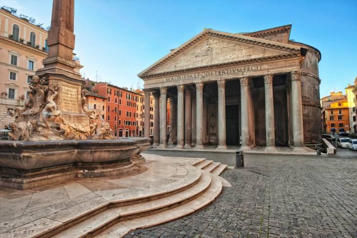 Het Pantheon mag je niet missen in Rome.