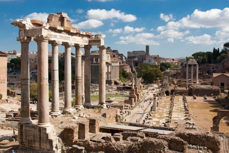 Opgraving uit de oudheid: Forum Romanum.