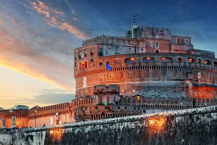 Castel Sant'Angelo vormde het deor voor de film Het Bernicni Mysterie.