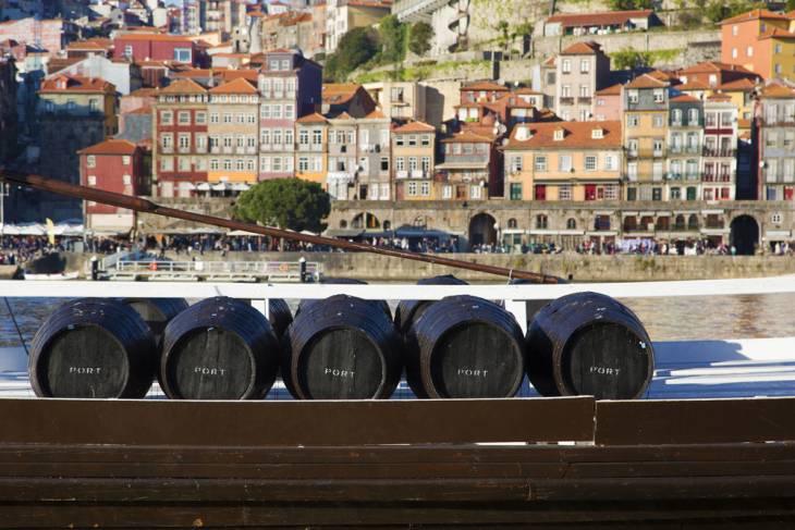 Port in de haven van Porto.