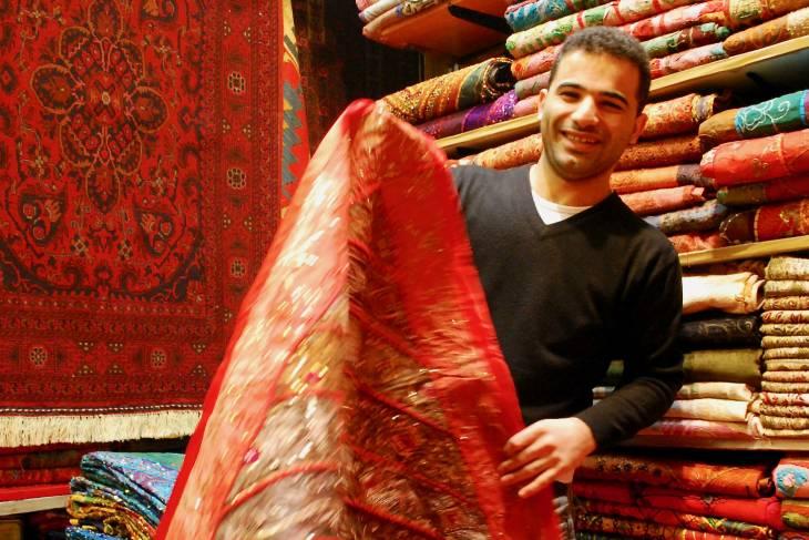 Oosterse tapijten in de Grand Bazaar.