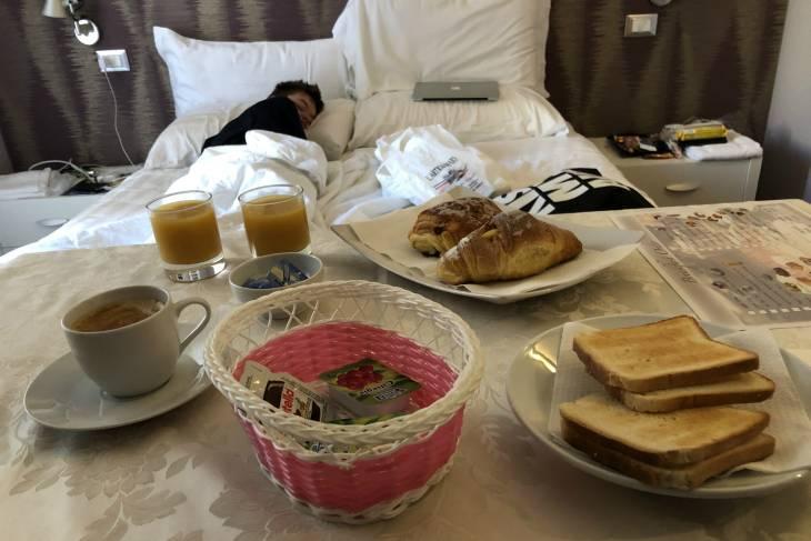 Ontbijt op bed.