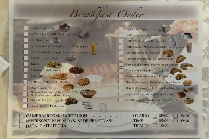 Ontbijt bij La Cupola del Vaticano