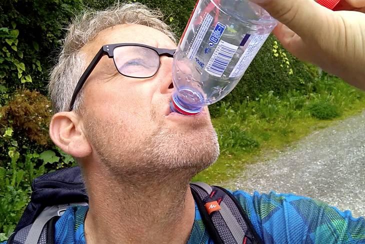Dorst tijdens hike in Brides-les-Bains