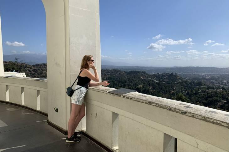 De wijde wereld in kijken vanaf Griffith Observatory in Los Angeles - RonReizen
