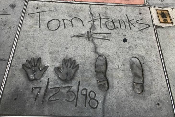 Tom Hanks bij Chinese Theatre in Los Angeles - RonReizen