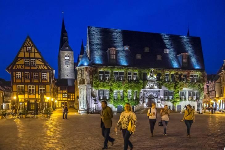 Quedlinburg in de avond.