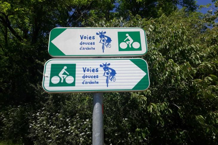 Fietstocht Ardèche koeienbord - RonReizen