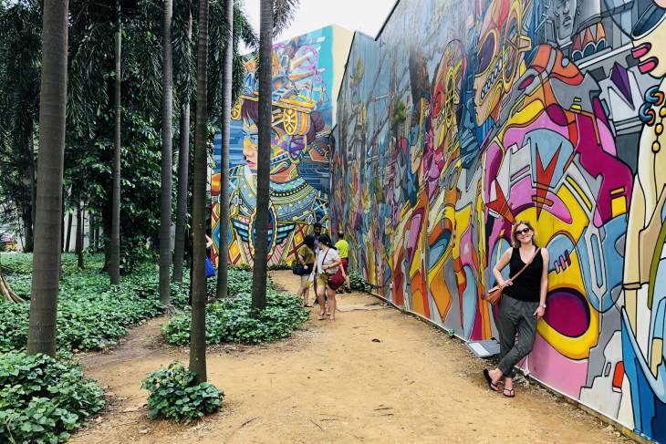Fraffitimuur Kampong Glam in Singapore - RonReizen
