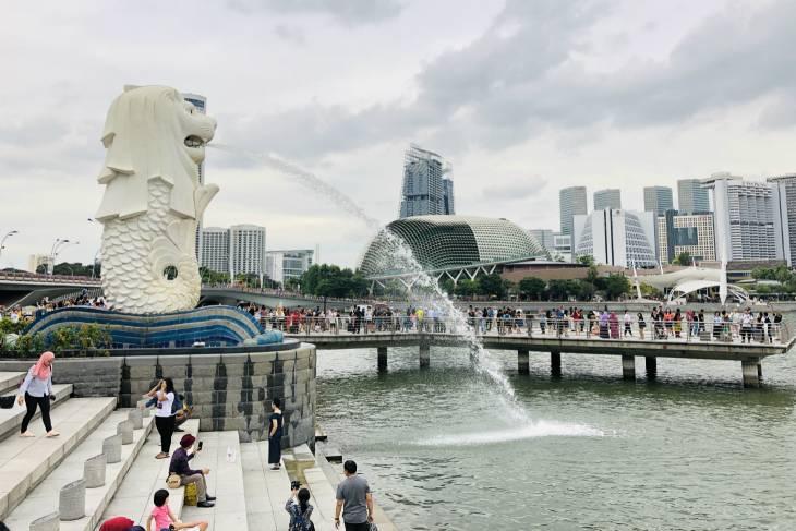 Merlion tijdens Singapore River Bumboat Cruise - RonReizen