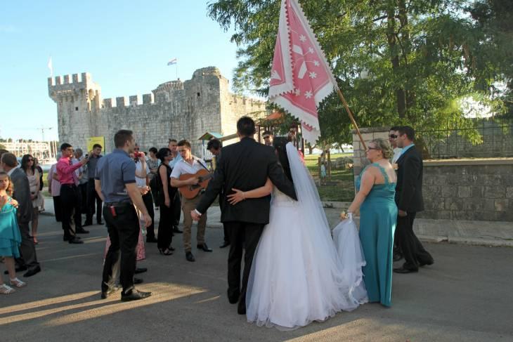 Bruiloft in Kroatië.