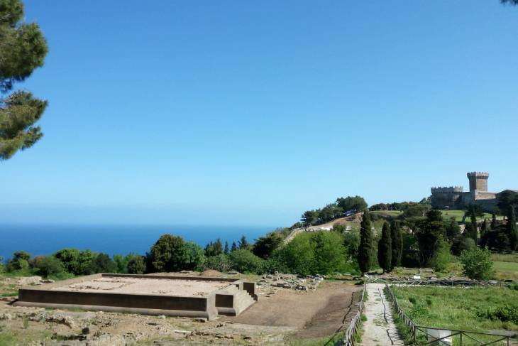 Archelogisch park van Etrusken en Romeinen in Toscane.